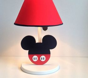 This One Looks Reaaaaaalllly Cute. You Could Paint Any Lampshade, And Make  The Mouse Face Out Of Wood.
