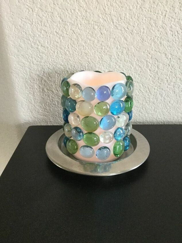 e crafternoons dollart store glowing candle
