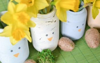 give old glass food jars a new life for spring
