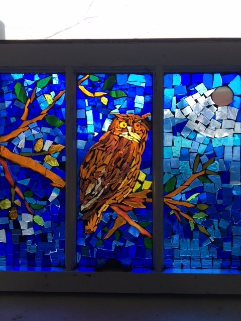 vintage windows into stained glass mosaics