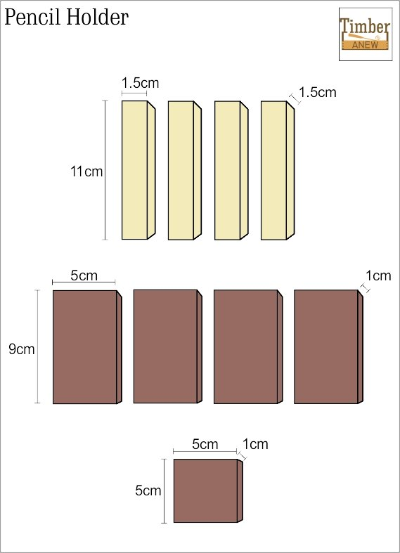 The measurments for each piece