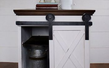 Sliding Barn Door Side Table.
