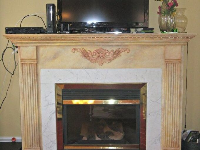 updating an ugly fireplace
