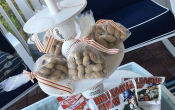 diy tiered baseball snack or cupcake display stand