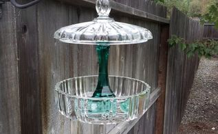 Repurposed Glass Lid Hanging Bird Bath Hometalk