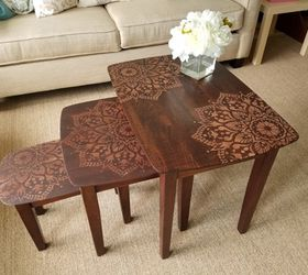 How To Stencil Nesting Tables Using The Passion Mandala, Animals, Appliance  Repair, Appliances