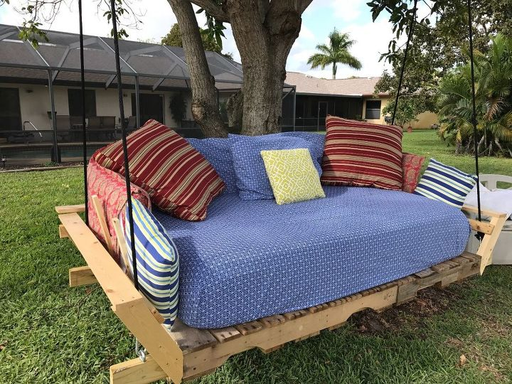 Pallet Swing Bed Modified Idea Found On Pinterest