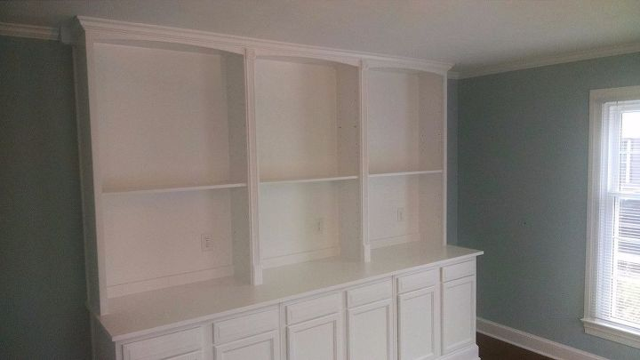 Bookcase Hack Using Kitchen Cabinets