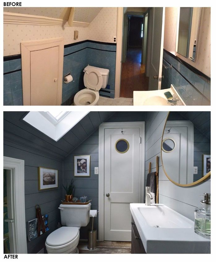 Tiny Attic Bathroom Gets A Diy Update Hometalk
