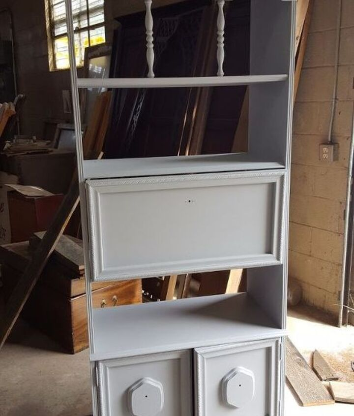 This Bookcase Was Abandoned At A Storage Facility And Was
