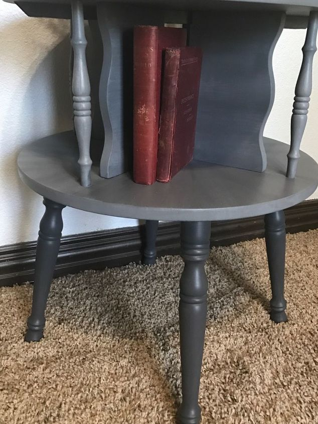 e vintage maple 2 tier table makeover