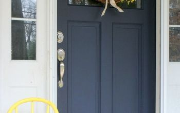 Refurbished Door Gets New Life + Color / Coastal Blue Door Makeover