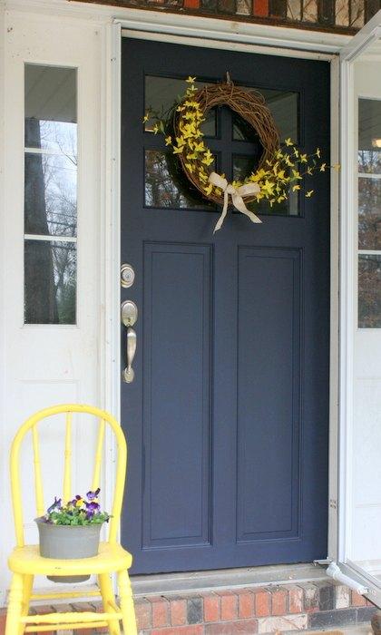 Refurbished Door Gets New Life Color Coastal Blue Door