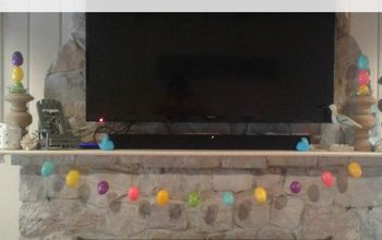 Get Your Mantel Ready for Easter With This Easy Dollar Store Garland!