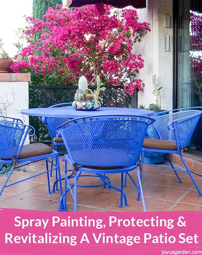 Spray Painting Protecting Amp Revitalizing A Vintage Patio Set Hometalk