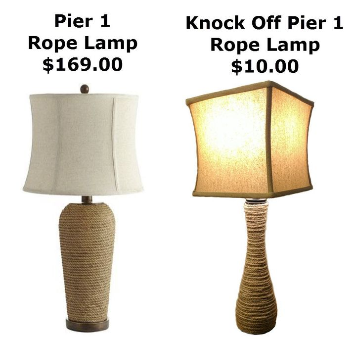 Make your own pier 1 rope lamp knock off hometalk make your own pier 1 rope lamp knock off animals appliance repair appliances mozeypictures Choice Image
