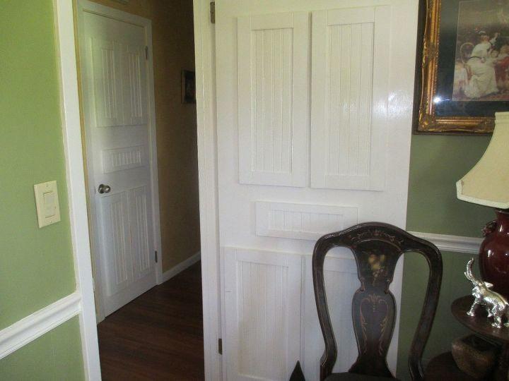 How To Update Flat Doors Using Throw Away Cabinet Doors