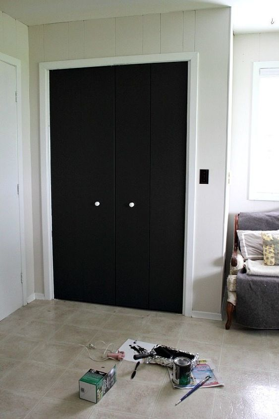 Diy Closet Door Update Turn Plain Doors Into A Giant