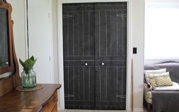 DIY Closet Door Update: Turn Plain Doors Into a Giant Chalkboard!