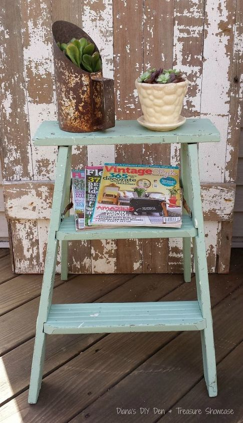 fusion mineral paint lily pond ladder