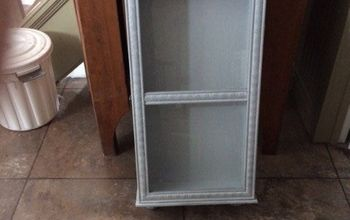 Fusion White Wash and Wax  Old Clock Medicine Cabinet!
