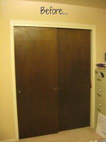 Q Need Ideas For Ugly Wood Sliding Closet Doors