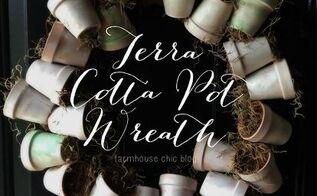 terra cotta pot wreath