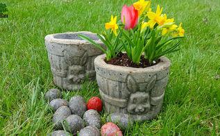 hypertufa easter basket garden planters eggs too