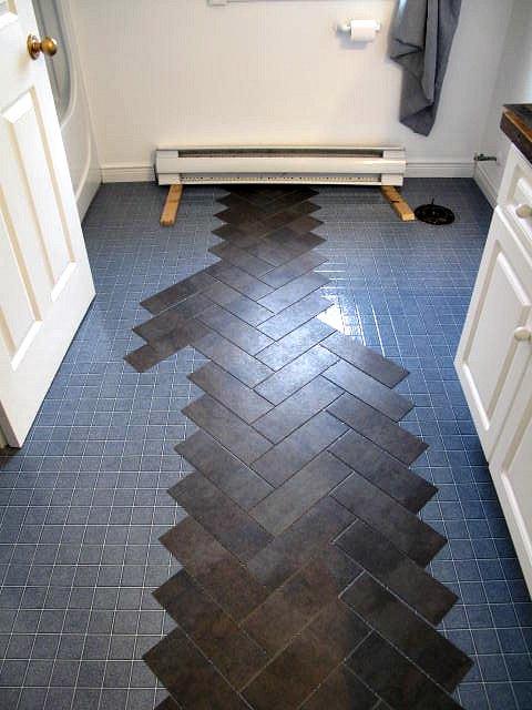 Peel n stick luxury vinyl tile floors hometalk peel n stick luxury vinyl tile floors ppazfo