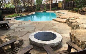 landscaping around pools