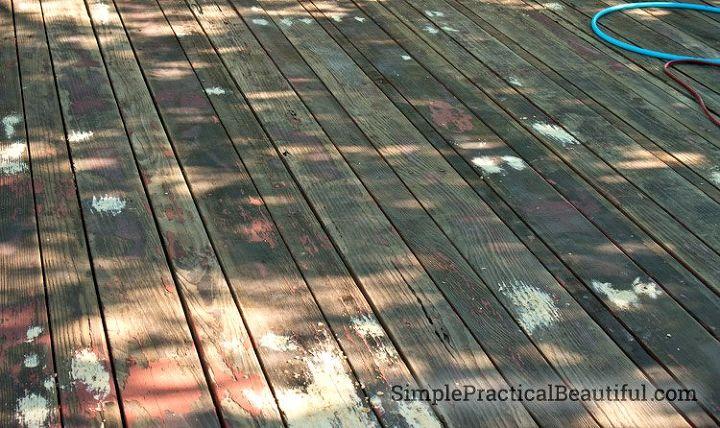 refinishing a wood deck