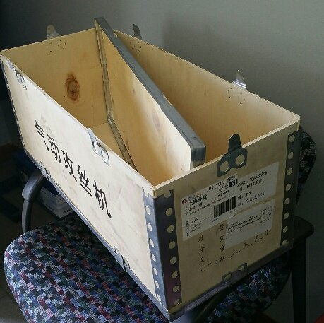 old shipping box goes ammo boom