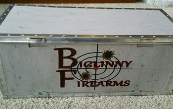 Old Shipping Box Turned Into Display for Gun Shop!