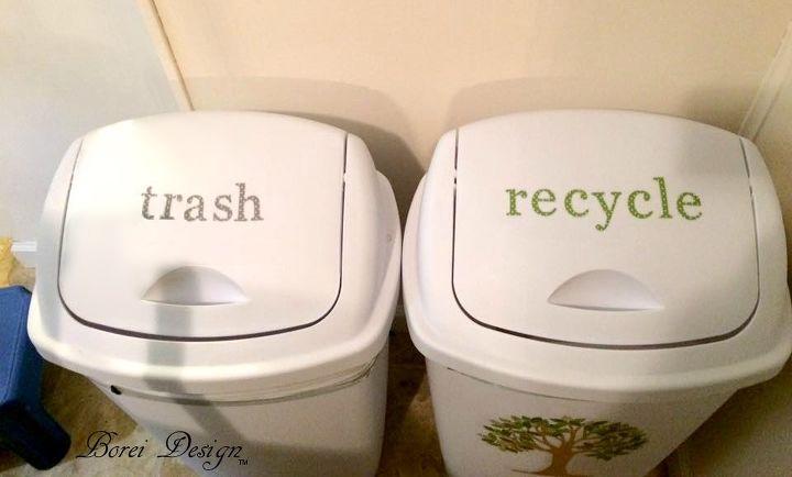 easy tree art recycle bin or trash can tutorial