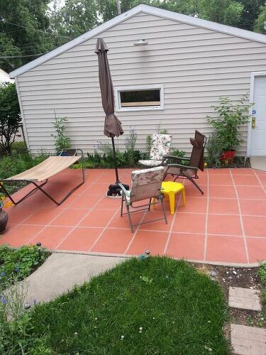 Old concrete patio? Cover up or remove/replace? | Hometalk