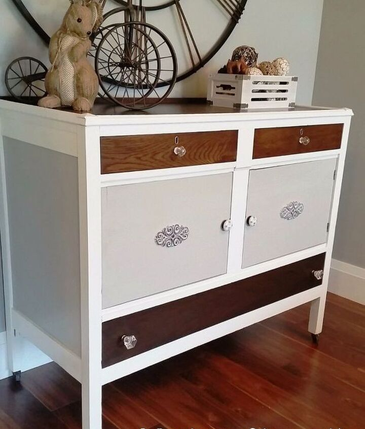 buffet to changing table makeover