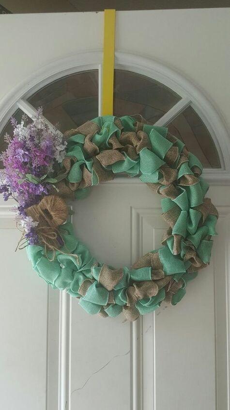 e dollar tree burlap wreath