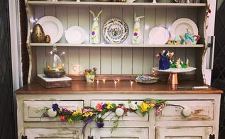 an easter inspired sideboard