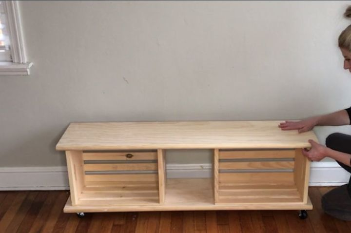 Easy Crate Bench On Wheels Hometalk