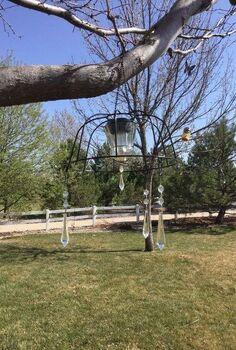 easy flower basket to solar chandelier