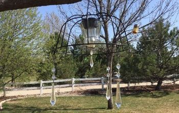 Easy Flower Basket to Solar Chandelier