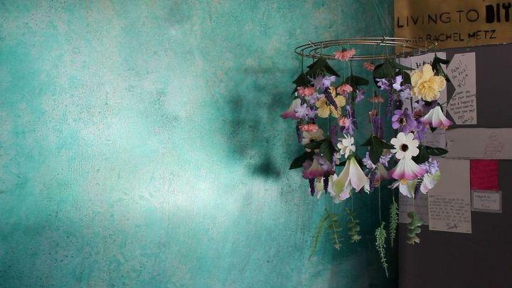 diy dollar store floral chandelier