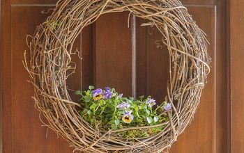 make your own living wreath planter