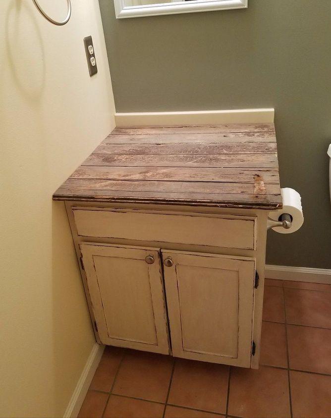 Barn Door Repurposed to a Counter Top