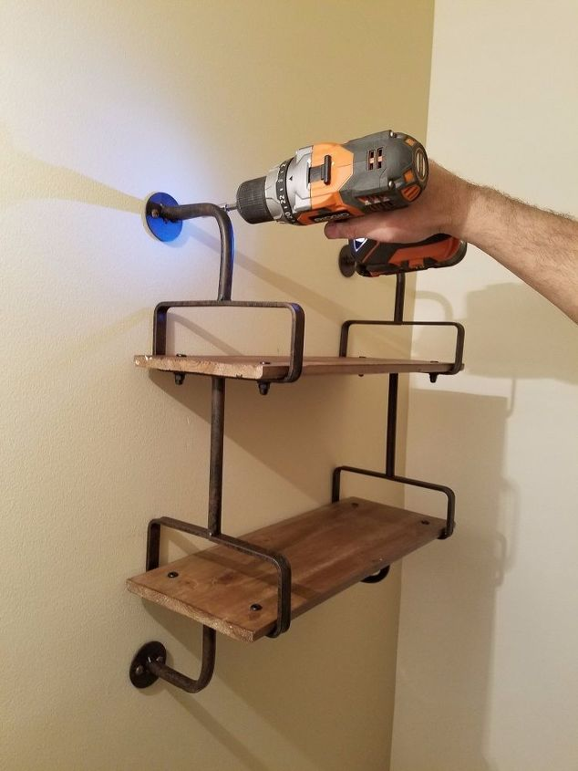 Rustic Industrial Style Shelf