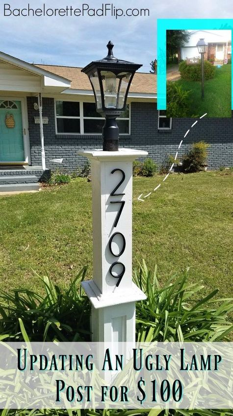 updating an ugly lamp post for 100