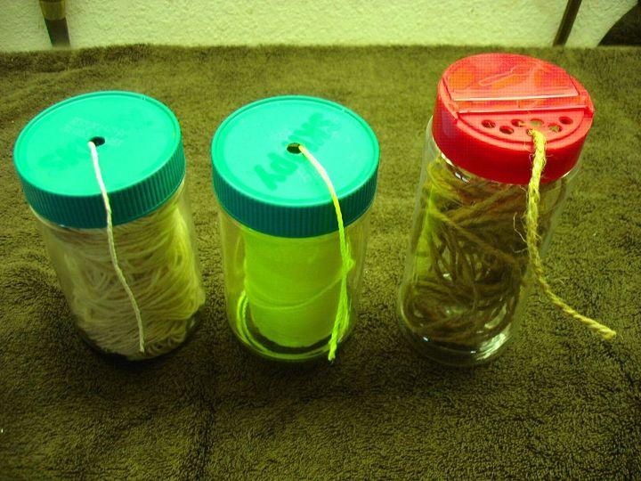 e re use of peanut butter spice jars