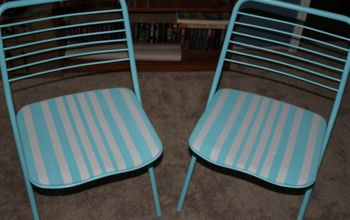 Vintage Folding Chairs Get a Makeover...