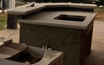 concrete patio bar, Finished with phase one