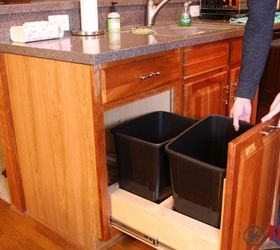 DIY Pull Out Kitchen Cabinet Trash Can   Hometalk